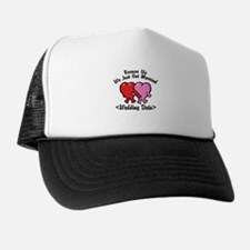 Funny Just Married (Add Wedding Date) Trucker Hat