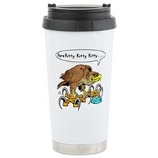 Hawk Calling Kitty Travel Mug