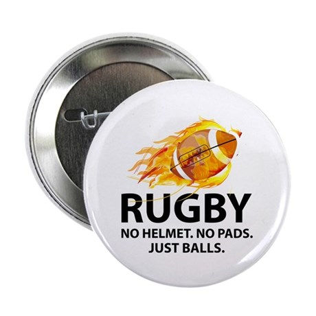 "Rugby Just Balls 2.25"" Button"