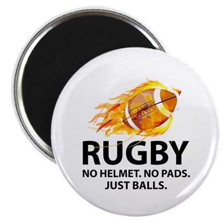 "Rugby Just Balls 2.25"" Magnet (100 pack)"