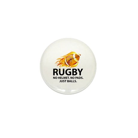 Rugby Just Balls Mini Button (10 pack)