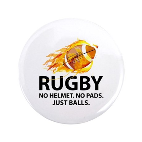 "Rugby Just Balls 3.5"" Button"