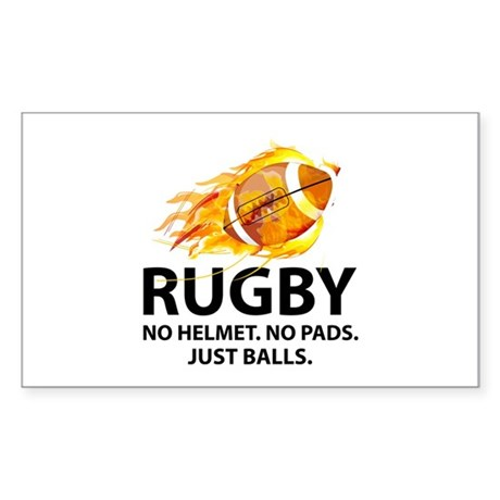 Rugby Just Balls Sticker (Rectangle)