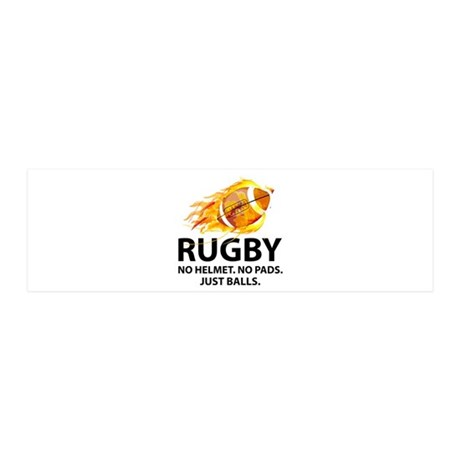 Rugby Just Balls 42x14 Wall Peel