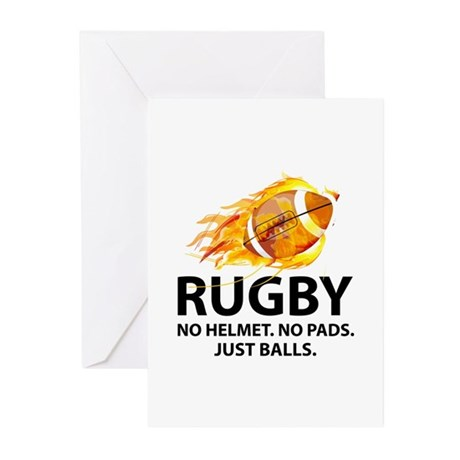 Rugby Just Balls Greeting Cards (Pk of 10)
