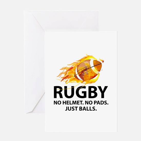 Rugby Just Balls Greeting Card