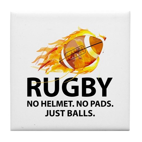 Rugby Just Balls Tile Coaster