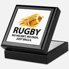 Rugby Just Balls Keepsake Box