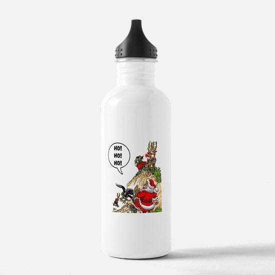 Santa's Gone Hawking Water Bottle