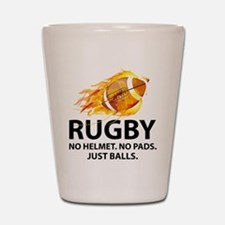 Rugby Just Balls Shot Glass