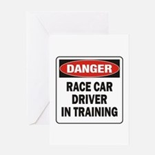 Race Driver Greeting Card