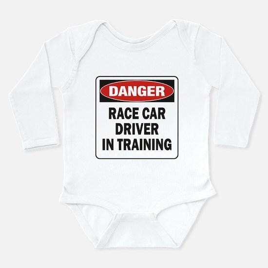 Race Driver Long Sleeve Infant Bodysuit