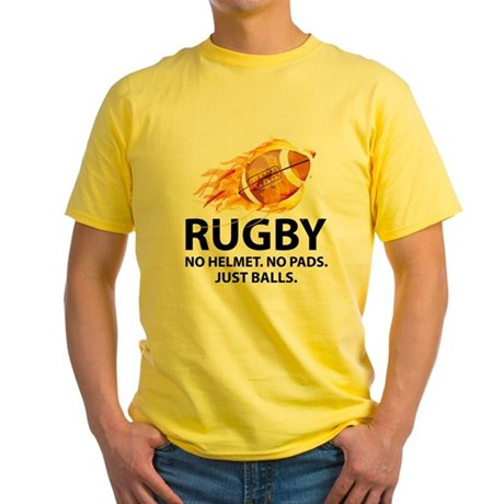 Rugby Just Balls Yellow T-Shirt
