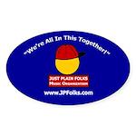Blue Oval JPF Logo Sticker