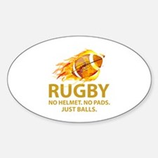 Rugby Just Balls Decal