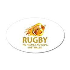 Rugby Just Balls 22x14 Oval Wall Peel