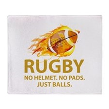 Rugby Just Balls Throw Blanket