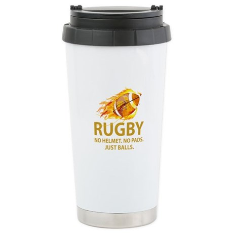 Rugby Just Balls Stainless Steel Travel Mug