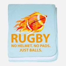 Rugby Just Balls baby blanket