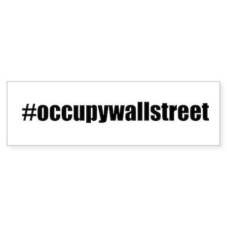 #occupywallstreet Sticker (Bumper)