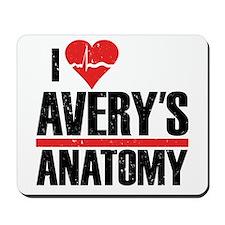 I Heart Avery's Anatomy Mousepad