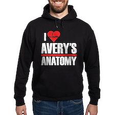 I Heart Avery's Anatomy Dark Hoodie