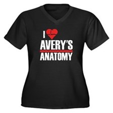 I Heart Avery's Anatomy Women's Dark Plus Size V-N