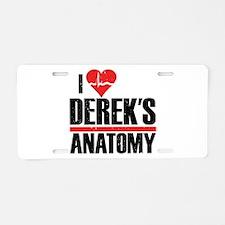 I Heart Derek's Anatomy Aluminum License Plate