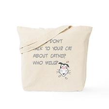 Catnip Cat Tote Bag