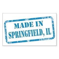 MADE IN SPRINGFIELD, IL Sticker (Rectangle 10 pk)