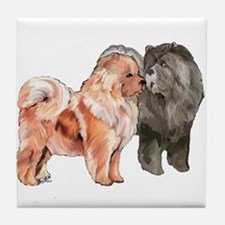 Cute Chows Tile Coaster
