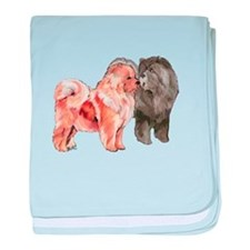 Cute Chow chow baby blanket
