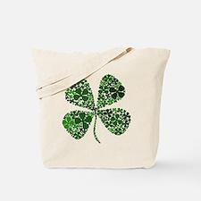 Lucky 4 Leaf Clover Irish Tote Bag