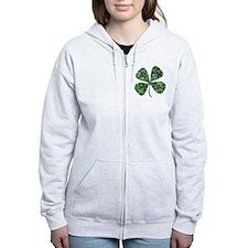 Lucky 4 Leaf Clover Irish Zip Hoodie