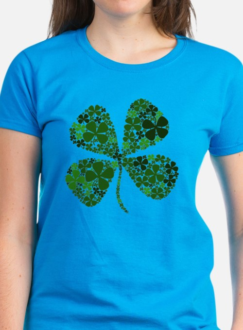 Lucky 4 Leaf Clover Irish Tee