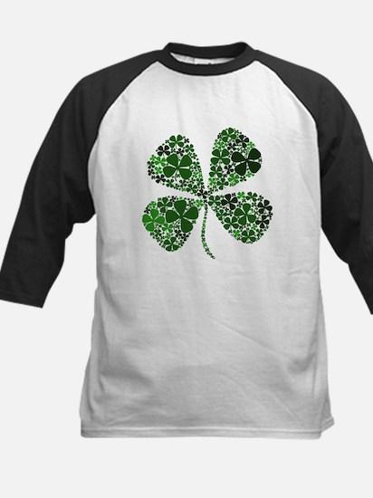 Lucky 4 Leaf Clover Irish Kids Baseball Jersey