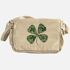 Lucky 4 Leaf Clover Irish Messenger Bag