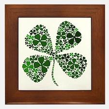 Lucky 4 Leaf Clover Irish Framed Tile