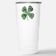 Lucky 4 Leaf Clover Irish Stainless Steel Travel M