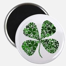 "Lucky 4 Leaf Clover Irish 2.25"" Magnet (10 pack)"