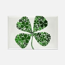 Lucky 4 Leaf Clover Irish Rectangle Magnet