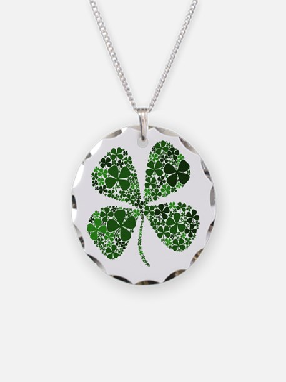 Lucky 4 Leaf Clover Irish Necklace