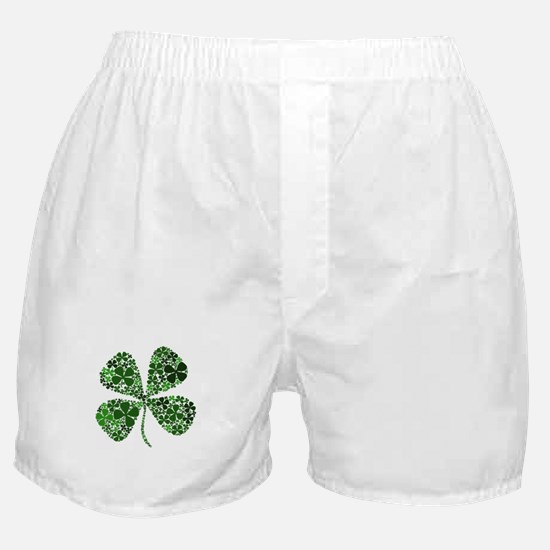 Lucky 4 Leaf Clover Irish Boxer Shorts