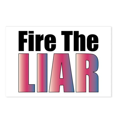 Fire the Liar Postcards (Package of 8)