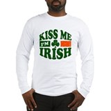 Kiss me i 27m irish Long Sleeve T-shirts