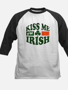 Kiss Me Im Irish Kids Baseball Jersey