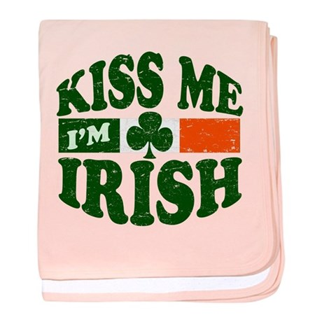 Kiss Me Im Irish baby blanket