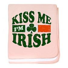 Kiss Me Im Irish baby blanket