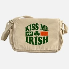 Kiss Me Im Irish Messenger Bag