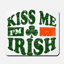 Kiss Me Im Irish Mousepad